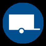 Vervoer per gesloten aanhanger