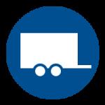 Vervoer per gesloten dubbel-as aanhanger
