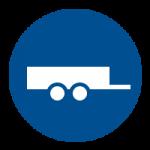 Vervoer per open dubbel-as aanhanger
