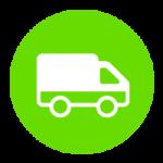 Vervoer per bestelbus