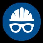 Veiligheidshelm en veiligheidsbril