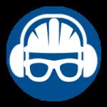 Veiligheidshelm, gehoorbescherming en veiligheidsbril